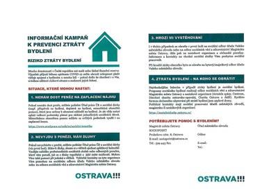 Informační kampaň k prevenci ztráty bydlení